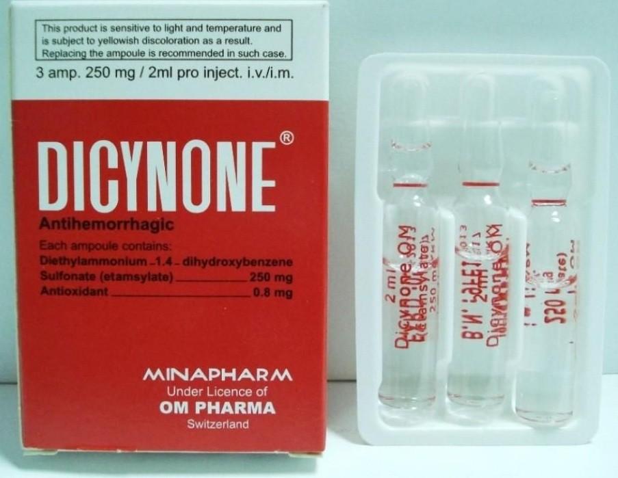 دواء دايسينون Dicynone لوقف النزيف وما هي موانع الاستعمال