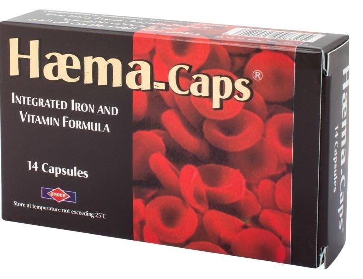 هيما كابس Haema Caps دواء لعلاج الأنيما المتعددة ونقص الحديد والمعادن
