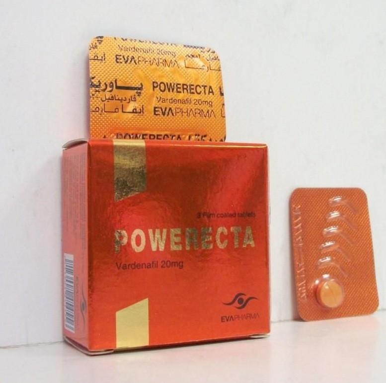 POWERECTA الآثار الجانبية لتناول أقراص باوريكتا أقراص
