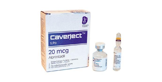 دواعي الاستعمال لدواء كافيرجيكت حقن Caverject Injection