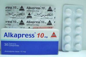 دواء ألكابرس Alkapress Tabletsلعلاج ارتفاع ضغط الدمالمرتفع والذبحة الصدرية