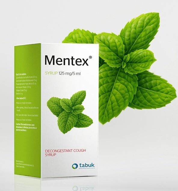 منتكس شراب Mentex للتخلص من السعال والجرعة المطلوبة