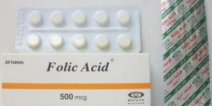 فوليك أسيد أقراص Folic Acid لعلاج تشوهات الجنين والآثار الجانبية