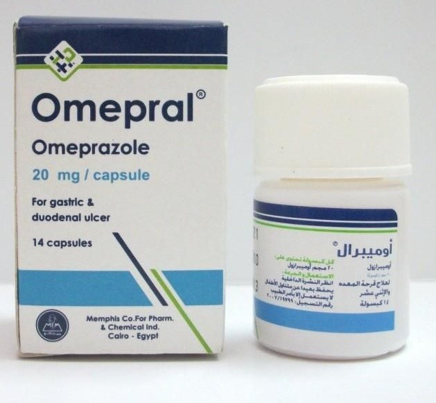 كبسولات أوميبرال Omepral لعلاج الحموضة وقرحة المعدة
