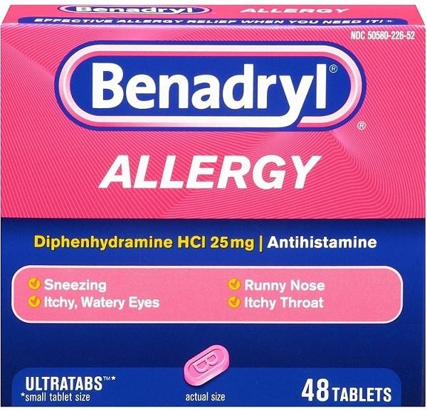 الآثار الجانبية لدواء بينادريل