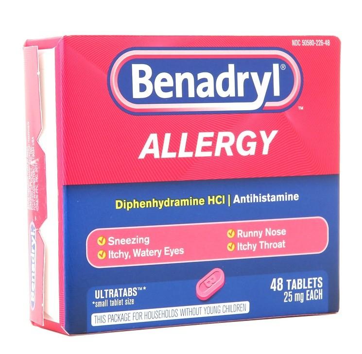 بينادريل أقراص Benadryl لعلاج الإضرابات النفسية والأرق