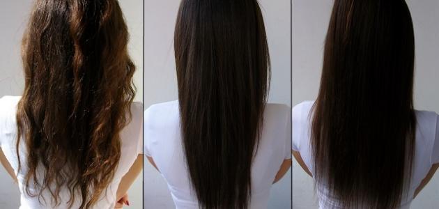 اضرار فرد الشعر بالبروتين