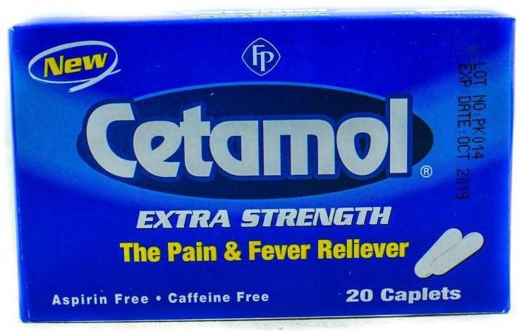 سيتامول Cetamol شراب واقراص مسكن قوي للألم وخافض للحرارة