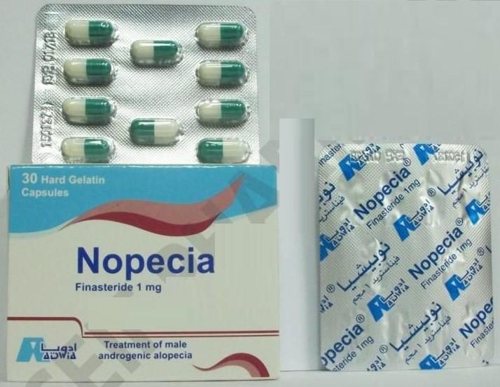 دواء نوبيشيا Nopecia لعلاج تضخم البروستاتا والجرعة المسموح بها