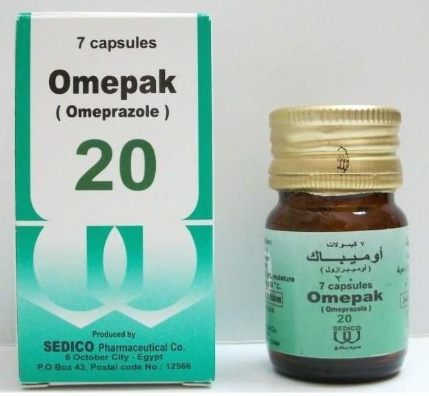 أوميباك كبسول Omepak Capsules للتخلص من قرحة المعدة