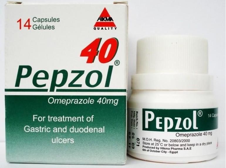 بيبزول كبسول Pepzol Capsules لعلاج قرحة المعدة
