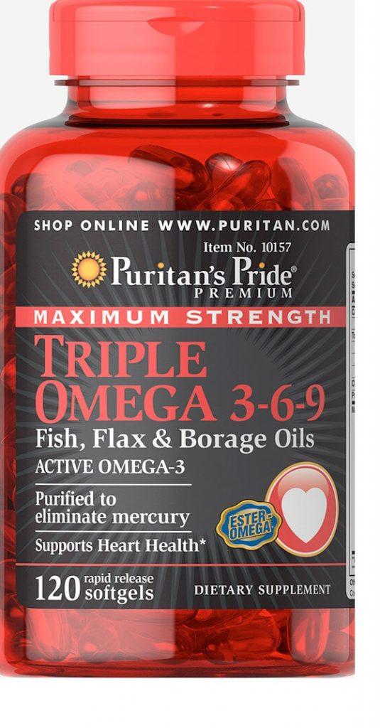 تريبل أوميجا كبسول Triple Omega Capsules لبناء العضلات والتخسيس