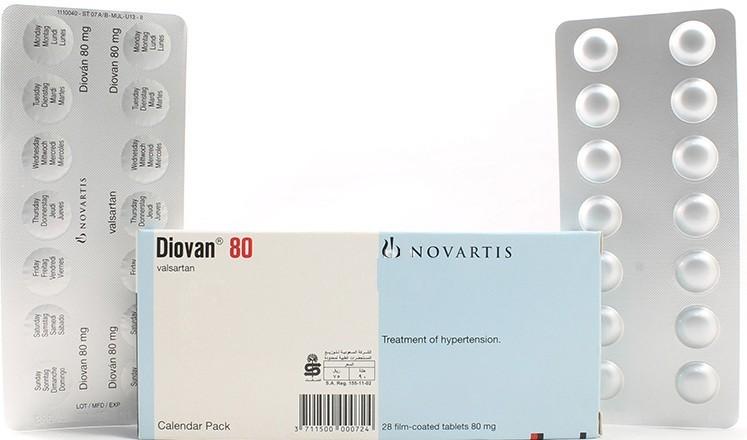 ديوفان Diovan أقراص لعلاج امراض القلب والآثار الجانبية