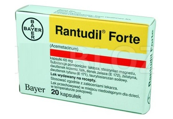 الآثار الجانبية لدواء رانتوديل فورت Rantudil Forte