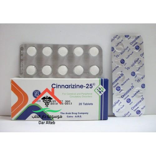 دواعي استعمال دواء سيناريزين Cinnarizin